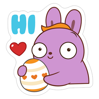 Bunny Love Spring stickers