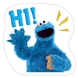 Стикеры Cookie Monster Stickers