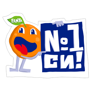 Стикеры Fanta Twisted Stickers