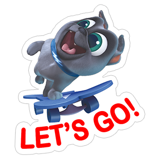 «Puppy Dog Pals» sticker #6