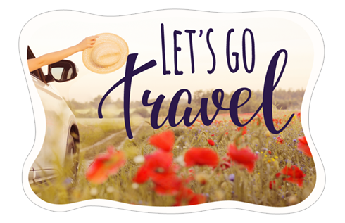 Let's Go Travel stickers