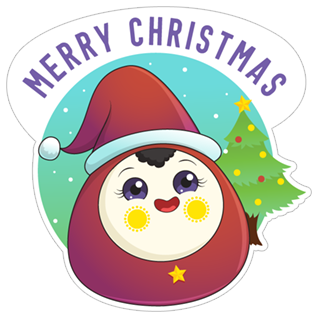 Merry Christmas & Happy New Year 2018 stickers