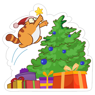 Happy HOHOHO Holiday stickers