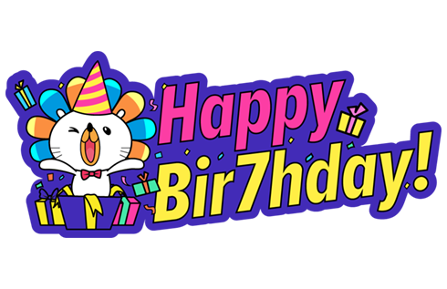 Our Birthday, Your Party! stickers