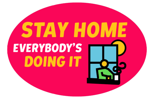 «WHO Healthy at home» sticker #1