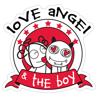 Love Angel & the Boy stickers