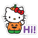 Hello Kitty Halloween sticker 1
