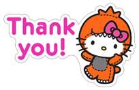 Hello Kitty Halloween sticker 2