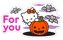 Hello Kitty Halloween sticker 3