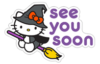 Hello Kitty Halloween sticker 7