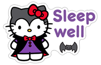 Hello Kitty Halloween sticker 10