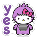 Hello Kitty Halloween sticker 15