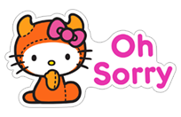 Hello Kitty Halloween sticker 17