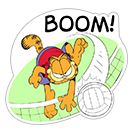 Garfield Gets Sporty sticker 1