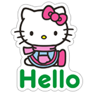 Стикер Hello Kitty Winter Holiday 1