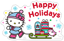 Стикер Hello Kitty Winter Holiday 2