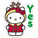 Стикер Hello Kitty Winter Holiday 12