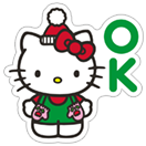 Стикер Hello Kitty Winter Holiday 17