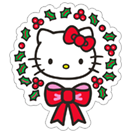 Стикер Hello Kitty Winter Holiday 19