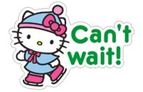 Стикер Hello Kitty Winter Holiday 21
