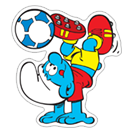 The Soccer Smurfs sticker 2