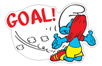 The Soccer Smurfs sticker 9