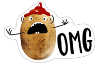 A Pack of Potatoes sticker 2
