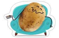 A Pack of Potatoes sticker 4