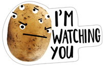 A Pack of Potatoes sticker 18