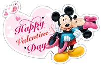 Mickey Mouse - Valentine sticker 1
