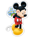 Mickey Mouse - Valentine sticker 2