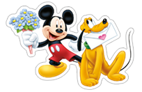 Mickey Mouse - Valentine sticker 5