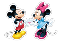 Mickey Mouse - Valentine sticker 11