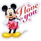 Mickey Mouse - Valentine sticker 12