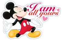 Mickey Mouse - Valentine sticker 13