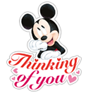 Mickey Mouse - Valentine sticker 14