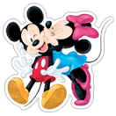 Mickey Mouse - Valentine sticker 17