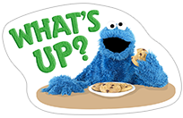 Стикер Cookie Monster Stickers 2