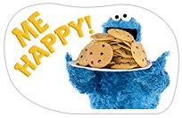 Стикер Cookie Monster Stickers 11