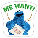 Стикер Cookie Monster Stickers 16