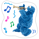 Стикер Cookie Monster Stickers 17