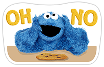 Стикер Cookie Monster Stickers 18