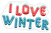 I love winter sticker 25