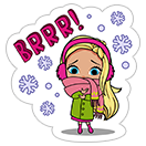 Стикер Barbie™ Winter Fun 1