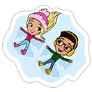 Стикер Barbie™ Winter Fun 4