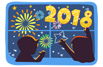 Happy New Year 2018 sticker 8