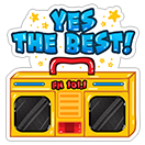 Yes the Best  sticker 5