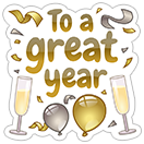 New Year's Resolutions sticker 12
