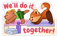 New Year's Resolutions sticker 18