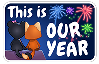 New Year's Resolutions sticker 22